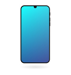 smartphone mockup with blue gradient screen vector image