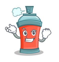 Successful aerosol spray can character cartoon vector