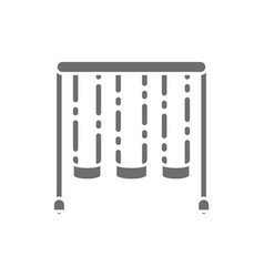 swing set for kids playground grey icon vector image