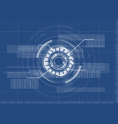 technological abstract digital blueprint vector image