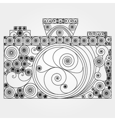 The photo camera in quilling style vector image