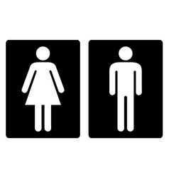 Toilet symbols simple vector