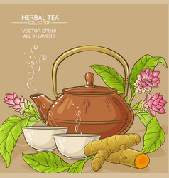 Turmeric tea vector