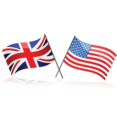 United Kingdom and United States vector image