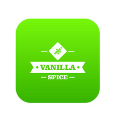 Vanilla spice icon green vector