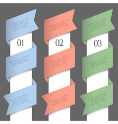 Vertical paper numbered banners vector image