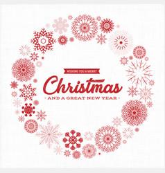 vintage merry christmas postcard vector image