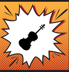 Violin sign comics style vector
