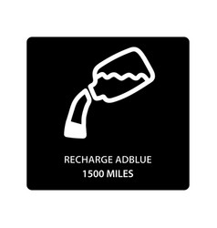 Warning dashboard car icon recharge adblue 1500 vector