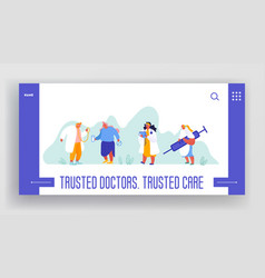 website template health insurance health care vector image