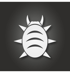 White bug icon vector