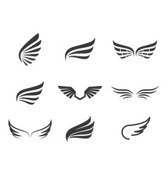 Wing logo and symbol vector