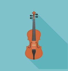 wooden violin vector image