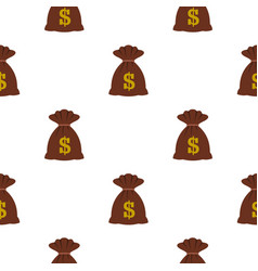 bag with dollars pattern flat vector image vector image