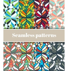 Floral Seamless Patterns Set vector image