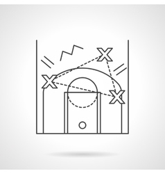 Game tactic flat line design icon vector image