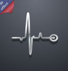 Heartbeat icon symbol 3D style Trendy modern vector image vector image
