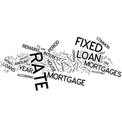 lenders and most common type of loans text vector image vector image