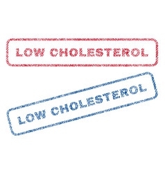 low cholesterol textile stamps vector image