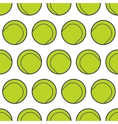 Seamless pattern with tennis balls Background vector image