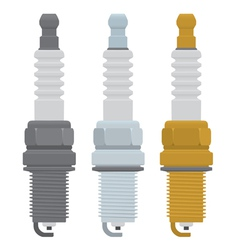 spark plugs vector image
