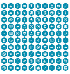 100 tension icons sapphirine violet vector image vector image