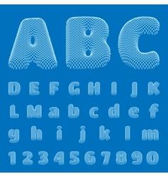 BluePrint Alphabet eps10 vector image
