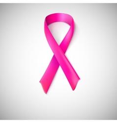 Pink ribbon loop vector image