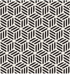 Seamless Black White Rounded Rectangles vector image