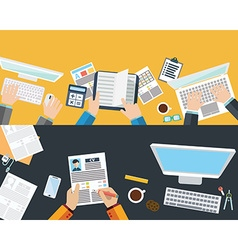 Set of flat design concepts for business finance vector image vector image