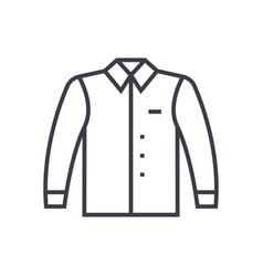 shirt line icon sign on vector image vector image