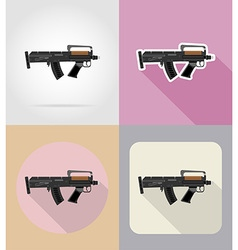weapon flat icons 05 vector image