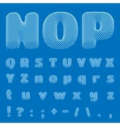 BluePrint Alphabet eps10 vector image vector image