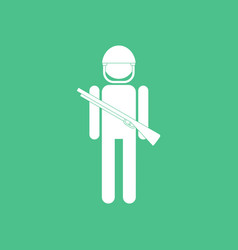 Icon soldier with gun vector