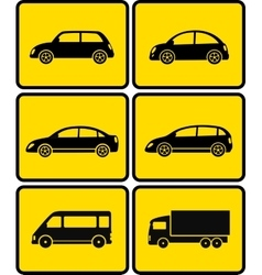 isolated cars on buttons vector image vector image