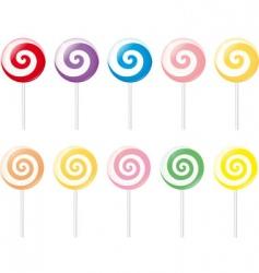 lollipops vector image vector image