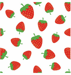 summer strawberry pattern vector image vector image