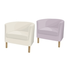Armchairs domestic soft vector image