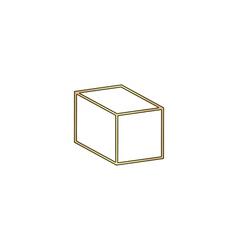 cube computer symbol vector image vector image