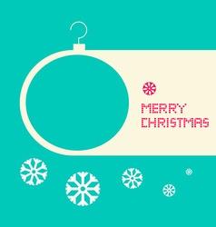 Flat Design Retro Blue Merry Christmas Card vector image vector image