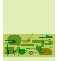 kitchenware set vector image vector image