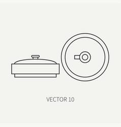 Line flat military icon anti-tank mine vector