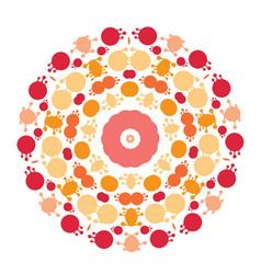 Abstract circle mandala vector
