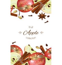 apple banner vector image