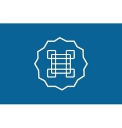 Arabic logo abstract monogram template vector
