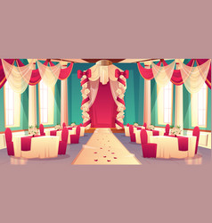 Banquet hall ready for wedding ceremony vector