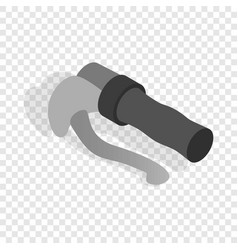 Bicycle brake isometric icon vector