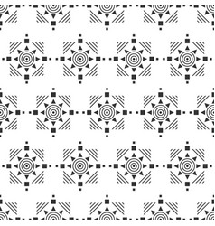 Black and white seamless pattern aztec abstract vector