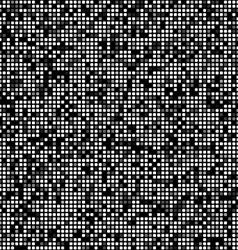 Black square pixel mosaic background vector