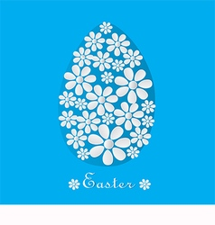 Blue card for Easter vector